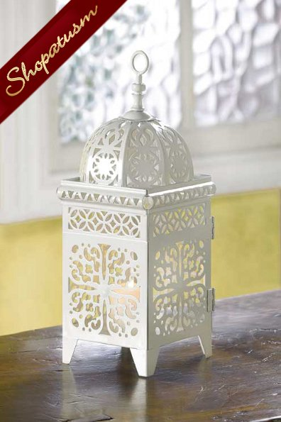 Wholesale Lanterns, White Birdcage Centerpieces, Moroccan, Bulk Lot 12