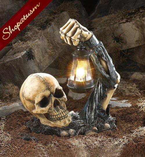 Image 0 of Sinister Skull Party Lantern Halloween Skeleton