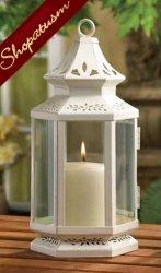 48 Centerpieces Med Victorian Garden White Lanterns