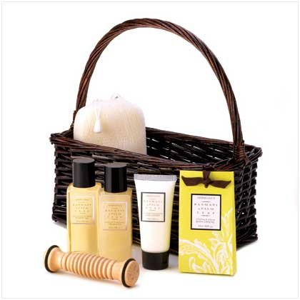 aromanice basmati palm spa bath and shower gift set bath and shower gift set by craftyjane on etsy