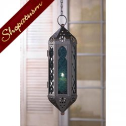 12 Wholesale Lanterns, Blue Glass, Moroccan Serenity Hanging Lanterns, Bulk Lot