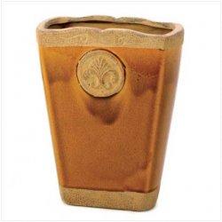 10 Centerpieces Florence Medallion Caramel Ceramic Glazed Vases