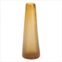 10 Wholesale Amber Contempo Decorative Glass Vases Centerpieces