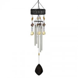 Thumbnail of Bejeweled Topaz Sunset Artisan Outdoor Windchime