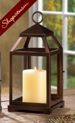Thumbnail of 10 Bronze Contemporary Square Candle Lantern Centerpiece
