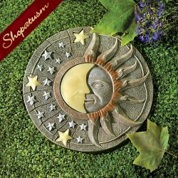 Celestial Glow in the Dark Outdoor Yard Garden Stepping Stone