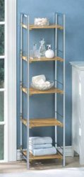 Bamboo Shelves Osaka Curio Chrome Storage Shelf