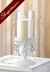 10 White Candle Lantern Victorian Hurricane Wedding Centerpiece