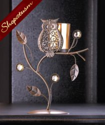 24 Centerpieces Wise Owl Candle Holder Ornament Votive Stand