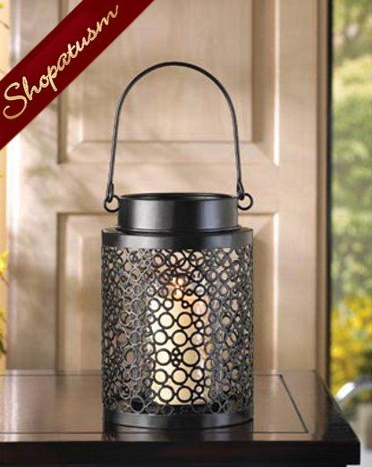 30 Party Candle Lantern Centerpiece Black Bubbles Festive