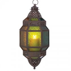 10 Large Fiery Hanging Moroccan Candle Lantern Lamps