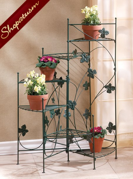 Green Ivy Design Metal Staircase Plant Stand Six Shelves