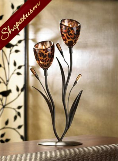 10 Sexy Leopard Lily Tulip Candelabra Centerpiece Exotic