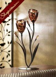 10 Sexy Leopard Lily Tulip Candelabra Centerpiece Exotic