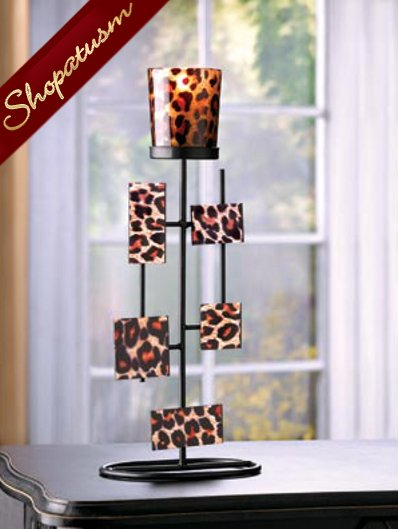 20 Leopard Centerpiece Geometric Votive Stand Candle Holder