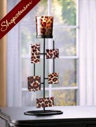 50 Leopard Centerpiece Candle Holder Votive Geometric Stand
