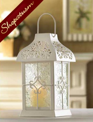24 Wedding Centerpiece White Daisy Gazebo Candle Lantern