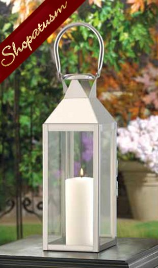 Wholesale Lanterns, Large Manhattan Lantern, Silver Candle Lantern, Bulk Lot 12