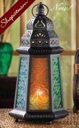 10 Centerpiece Desert Green Yellow Blue Moroccan Candle Lanterns
