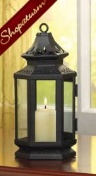 48 Small Black Candle Lantern Table Centerpiece Stagecoach