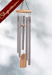 Resonant Windchime Aluminum and Natural Pine
