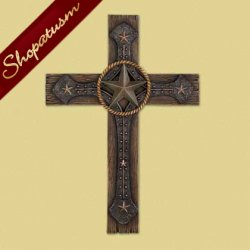 Thumbnail of Rustic Rugged Cowboy Style Decorative Wall Cross