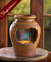 Grecian Urn Light Up Decorative Table Fountain