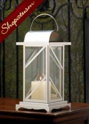 10 Candle Lanterns Large Silver Greenwich Wedding Centerpiece