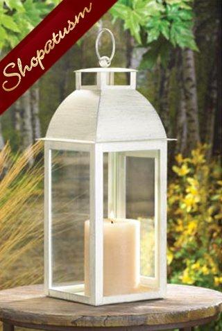 36 Shabby Distressed Ivory Candle Lanterns Soho Wedding Centerpieces