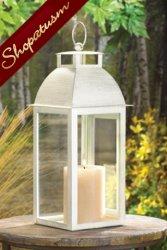24 Candle Lanterns Shabby Distressed Ivory Soho Wedding Centerpieces