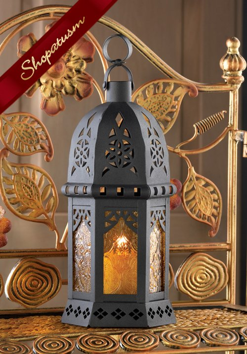 20 Candle Lanterns Wedding Centerpiece Yellow Dramatic Moroccan