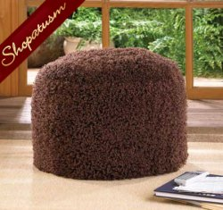 Chestnut Brown Cozy Decorative Ottoman Pouf
