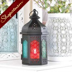 48 Multi Colored Candle Lantern Moroccan Centerpieces Turret