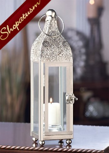 36 Ornate Silver Candle Lanterns Tower Wholesale Centerpieces