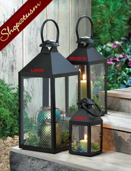24 Large Black Revere Centerpieces Wholesale Candle Lanterns