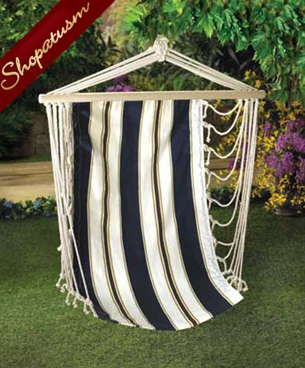 Nautical Navy Stripes Cotton Hanging Garden Chair