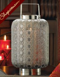 48 Candle Lanterns Tall Wedding Centerpieces Silver Lace Design
