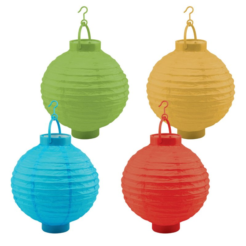 10 4 Piece Light Up Battery Operated Orient Paper Lantern Party Set