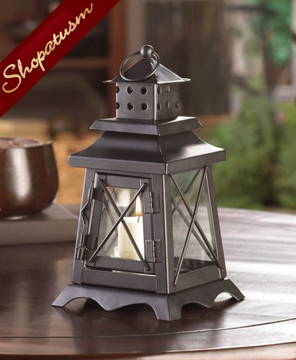 Watch tower wholesale lanterns centerpieces black metal