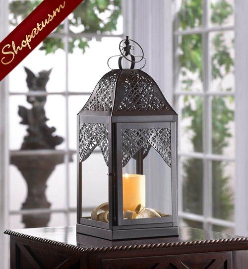 Candle lanterns black large centerpieces elegant