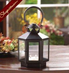 Black Hexagon Wedding Centerpiece Carriage Candle Lantern