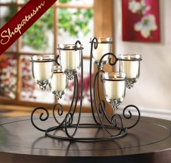 12 Candle Display Wrought Iron Wedding Centerpiece Candelabra