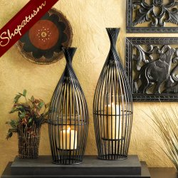Exotic Large Wire Vase Decorative Centerpiece Candle Holder