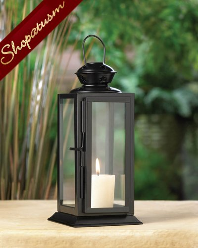 48 Black Metal Starlight Wedding Centerpieces Rectangular Candle Lanterns