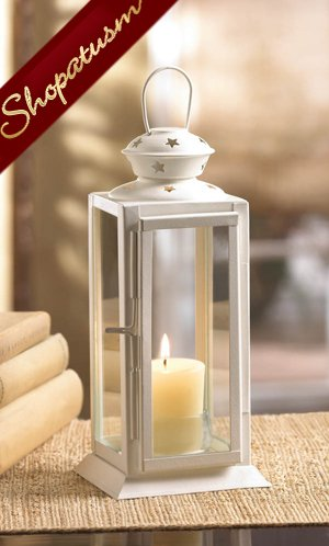 36 Wedding Centerpieces White Lanterns Rectangular Metal Starlight