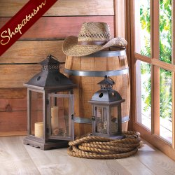 12 Wholesale Lanterns, Large Rustic Wood Lanterns, Stately Monticello, Bulk Lot