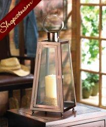 Contempo Wedding Centerpiece Copper Candle Lantern