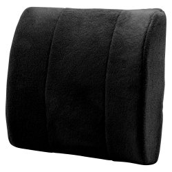 Thumbnail of Black Lower Back Massage Cushion Pillow 2 Speeds