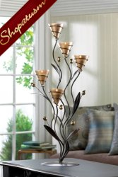 12 Centerpieces Large Candelabras Golden Bouquet Candle Holders