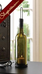 20 Olive Green Centerpieces Glass Wine Bottle Candle Holders